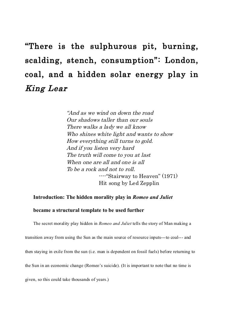 Told English Essay King Lear Individuality source