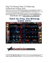 King the mmorpg hack v3 cheats app ios android tricheur 2014