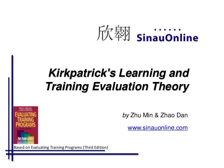 Kirkpatrick 4 Level Evaluation Model