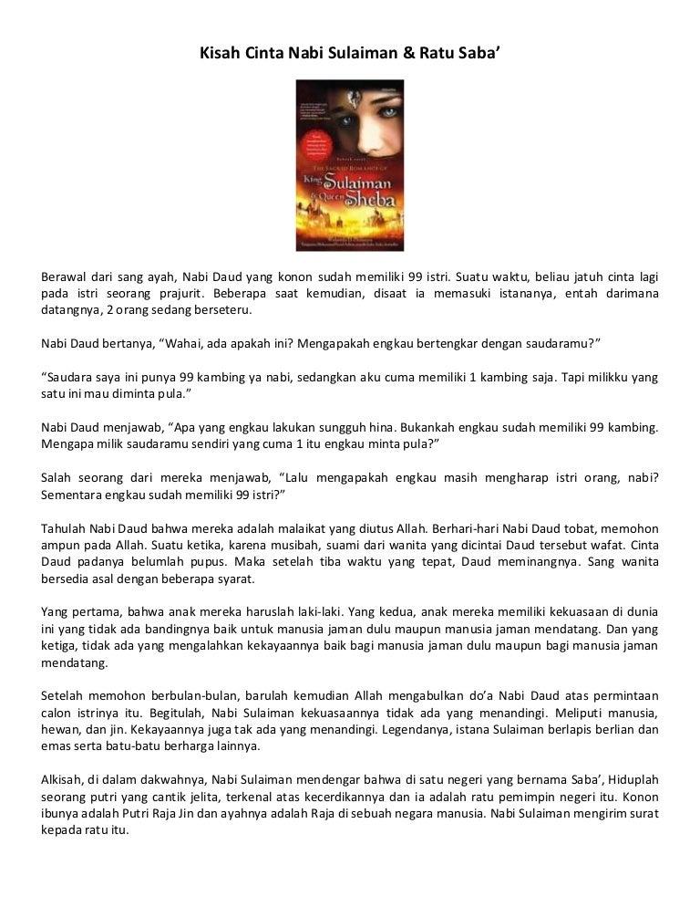 Kisah Cinta Nabi Sulaiman Ratu Saba