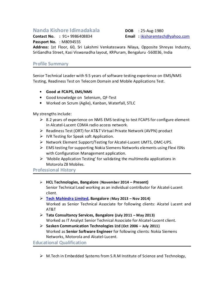 cdma testing resume