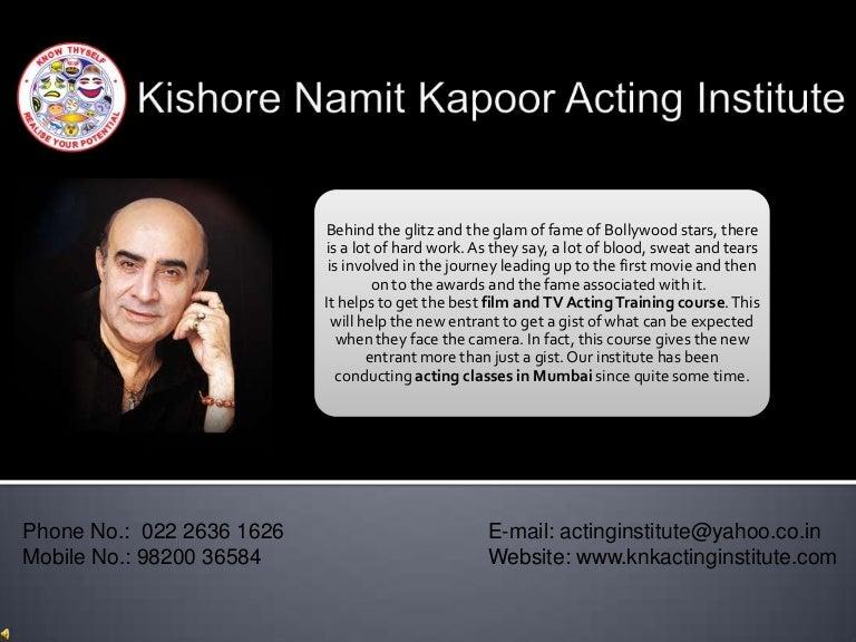 Kishore namit kapoor acting institute