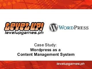Case Study: WordPress as a CMS