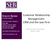 CRM and the Law Firm
