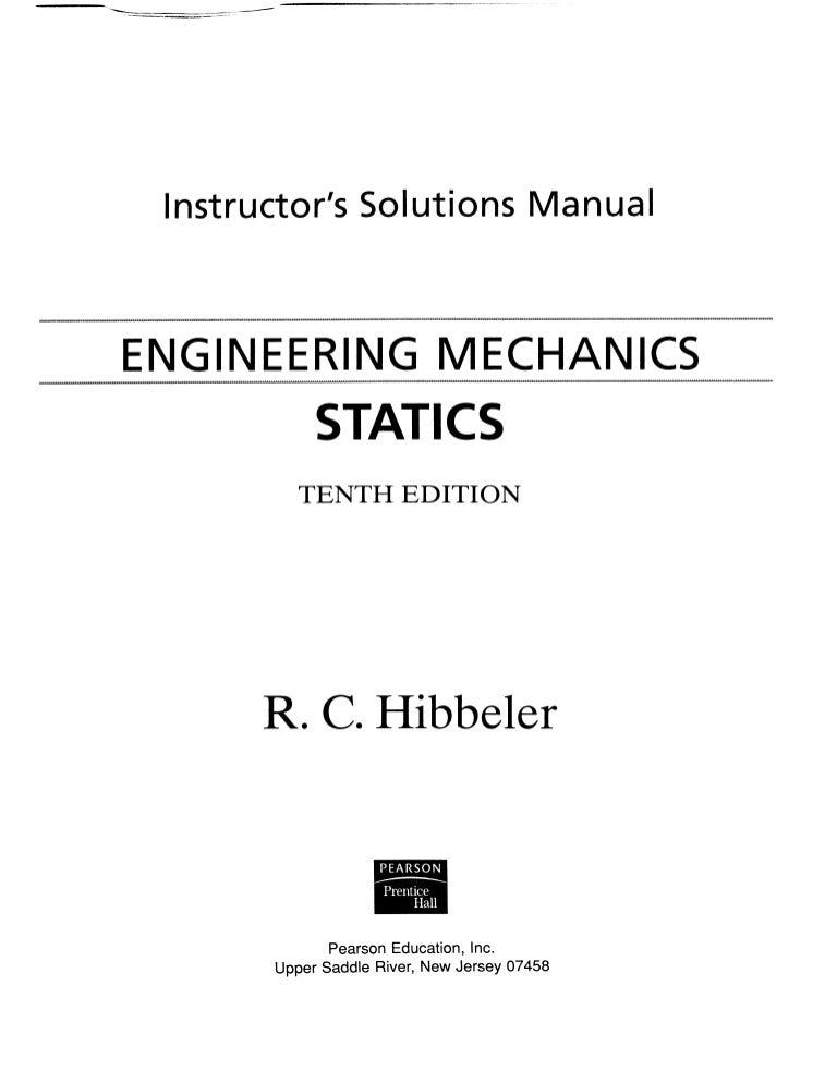 solution manual to engineering mechanics unknown rh slideshare net solution manual for engineering mechanics statics 14th edition solution manual for engineering mechanics statics pdf