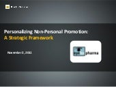 Personalizing Non-Personal Promotion: A Strategic Framework