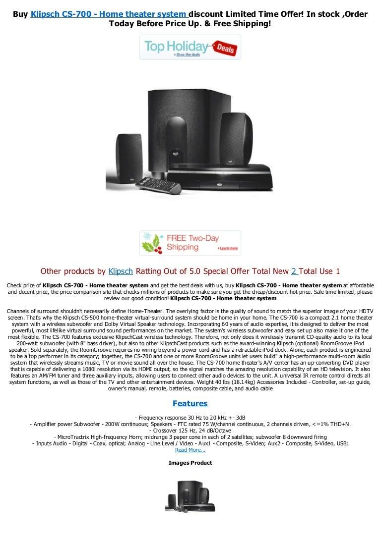 Klipsch CS-700 - Home theater system pdf