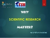 Why medical scientific research matter hung