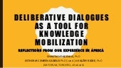 Workshop CKF16: Deliberative dialogues as a tool for knowledge mobilization