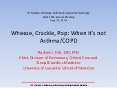 KMA Annual Meeting 2010 - Allergy - Wheeze, Crackle, POP: When its not Asthma/COPD