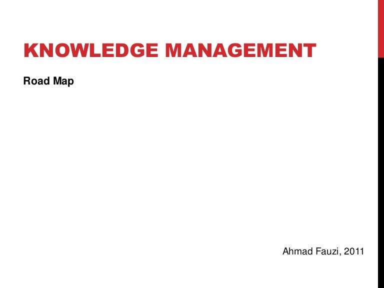 knowledge management km road map