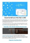 Knock the ball out of the park in 2018
