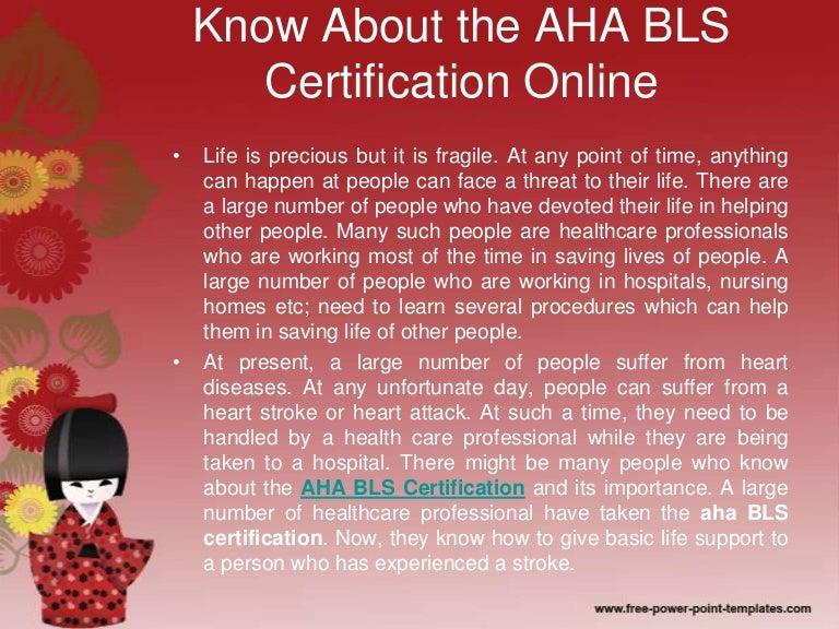 bls aha certification