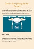 Know everything about drones