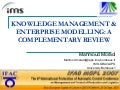 Knowledge  Management And  Enterprise Modelling  A Complementary Review