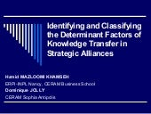 knowledge transfer in alliances