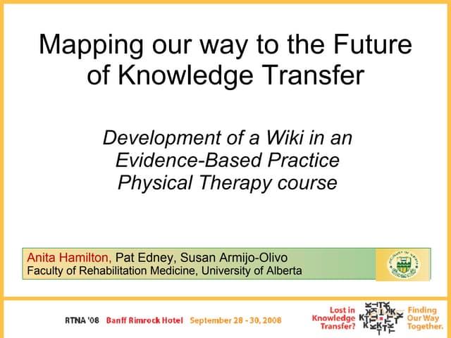 Knowledge Translation Using A Wiki