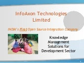 Knowledge management solutions for development sector   InfoAxon approach