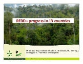 REDD+ progress in 13 countries