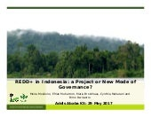 REDD+ in Indonesia: A project or a new mode of governance?