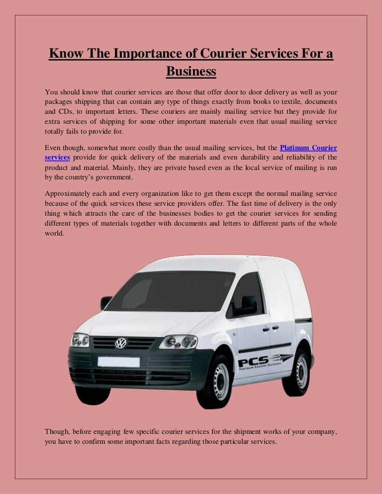 Know The Importance Of Courier Services For A Business
