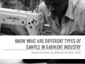 Know What are Different Types of Samples in Garment Industry