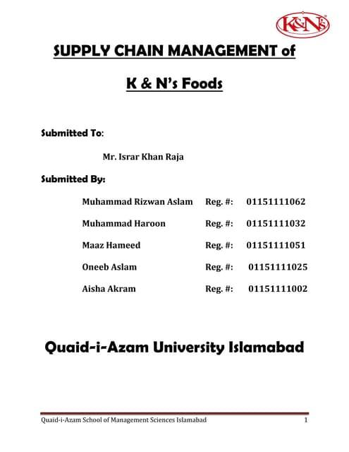k&n pakistan case study