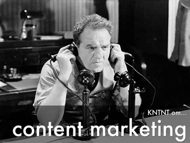 Kntnt om content marketing för Sveriges kommunikationsbyråer