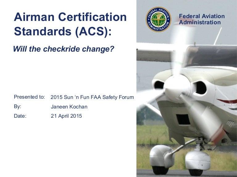 Airmen Certification Standards By Dr Janeen Kochan