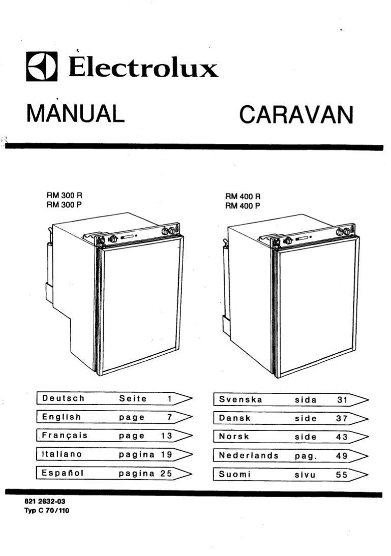 Koelkast dometic manual rm 300 r, rm 300 p, rm 400 r, rm 400 p