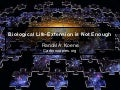 Dr. Randal Koene: Biological Life Extension is Not Enough (Australian Singularity Summit 2012)