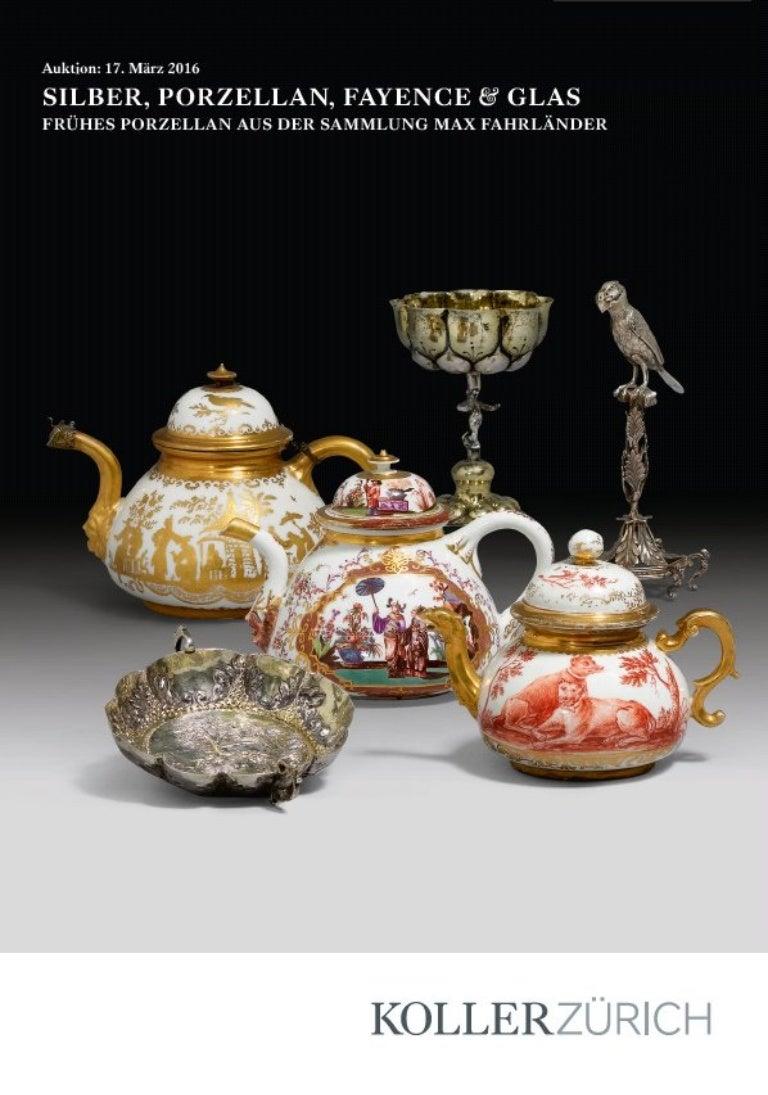 Koller Auktion Silber Porzellan Fayence Glas
