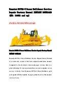 Komatsu d375 a 5 dozer bulldozer service repair factory manual instant download (sn 18052 and up)