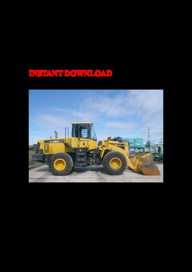 Komatsu Wa380 6 Wheel Loader Service Repair Factory Manual