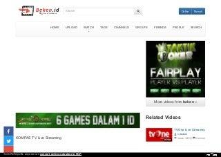 KOMPAS TV Live Streaming : Kompas Hitung Cepat Pilkada DKI Jakarta