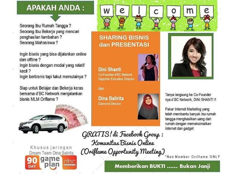 Komunitas bisnis online (oriflame opportunity meeting)
