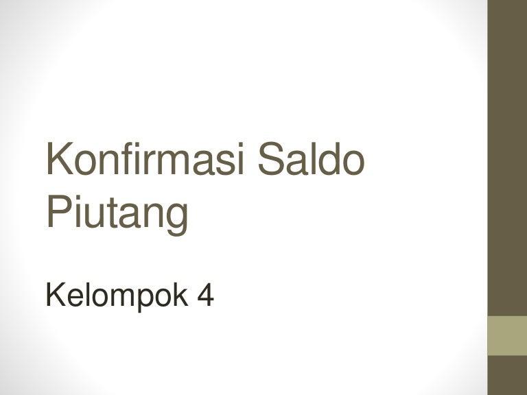 Konfirmasi Saldo Piutang