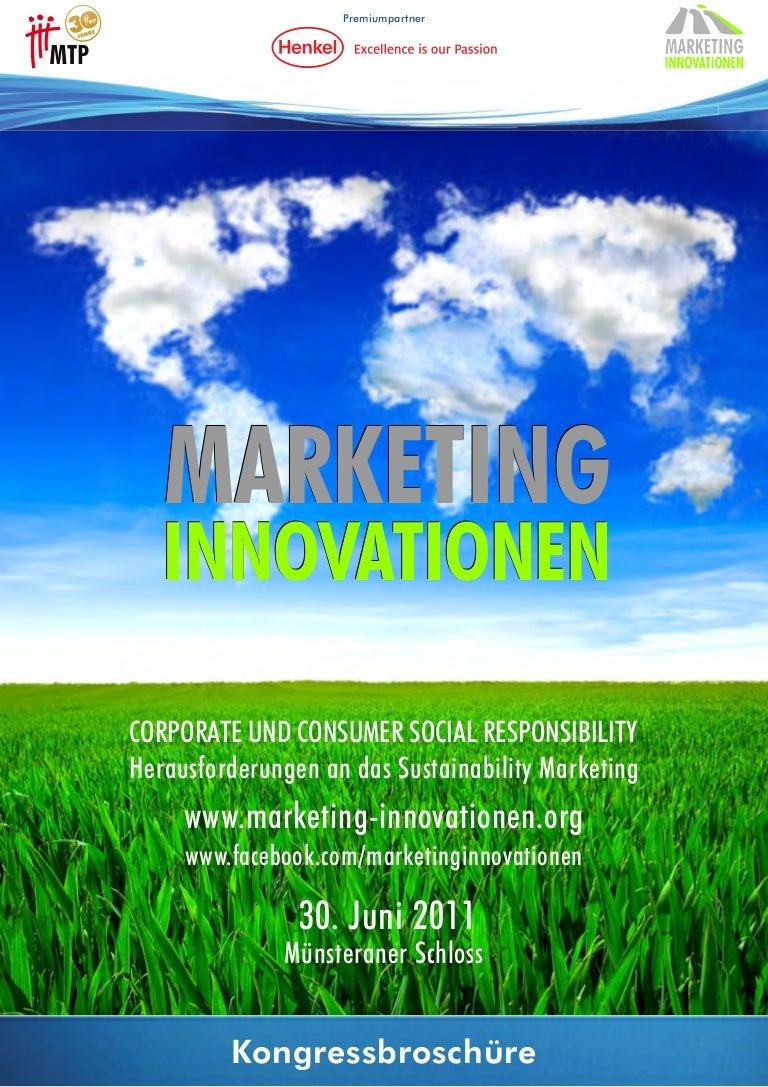 Marketing Innovationen 2011: Kongressbroschüre zu Corporate & Consume…