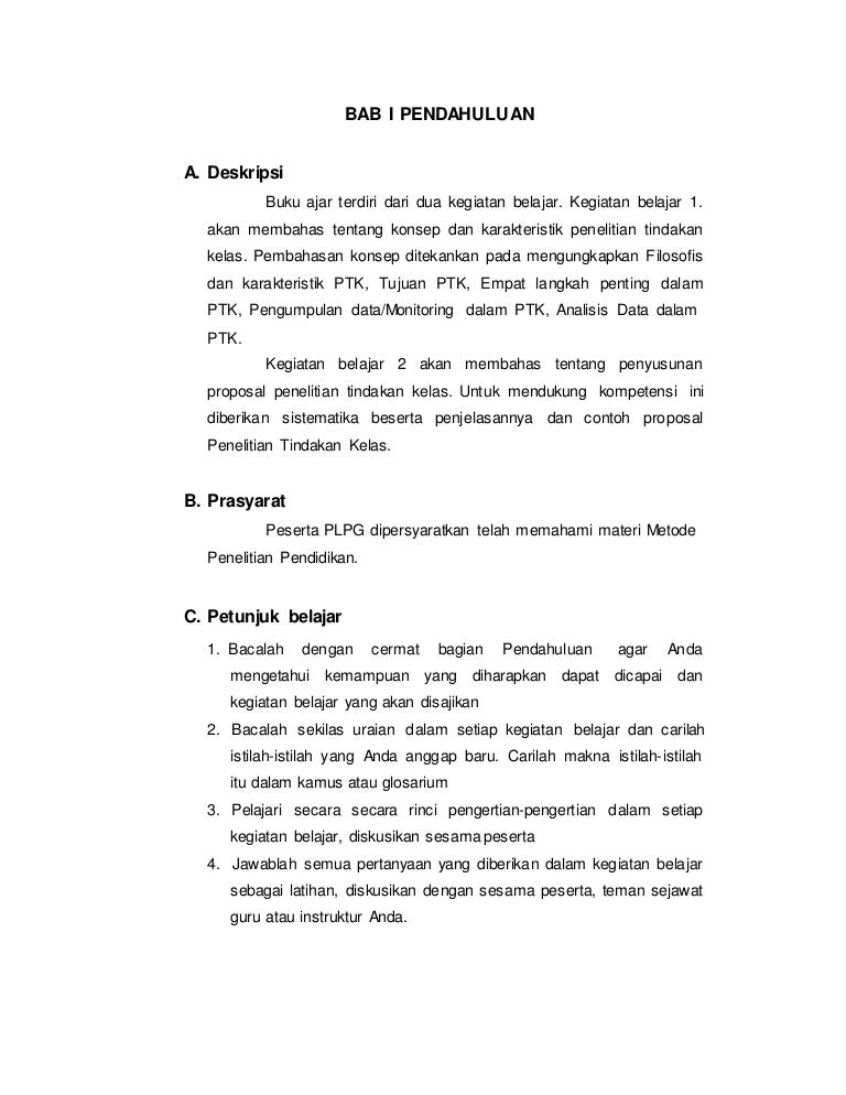Konsep Dan Karakteristik Penelitian Tindakan Kelas