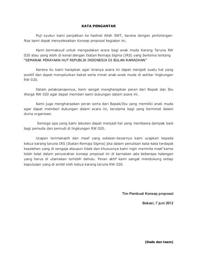 Contoh Proposal Kegiatan Ramadhan Dan Agustusan