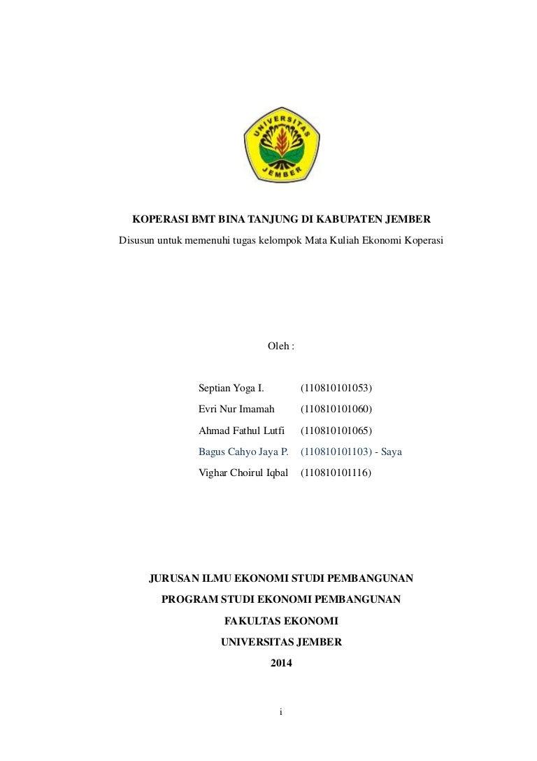Hasil Survei Koperasi Bmt Bina Tanjung Mata Kuliah Ekonomi Koperas