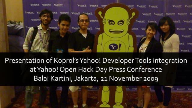 Koprol & Yahoo! APIs