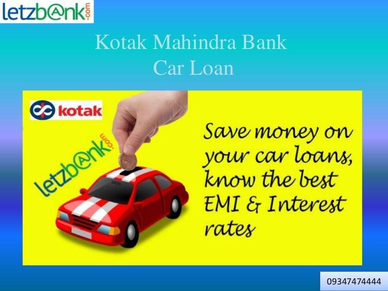 Kotak Mahindra Bank Car Loan