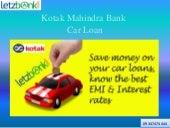 Kotak Mahindra Bank Used Car Loan