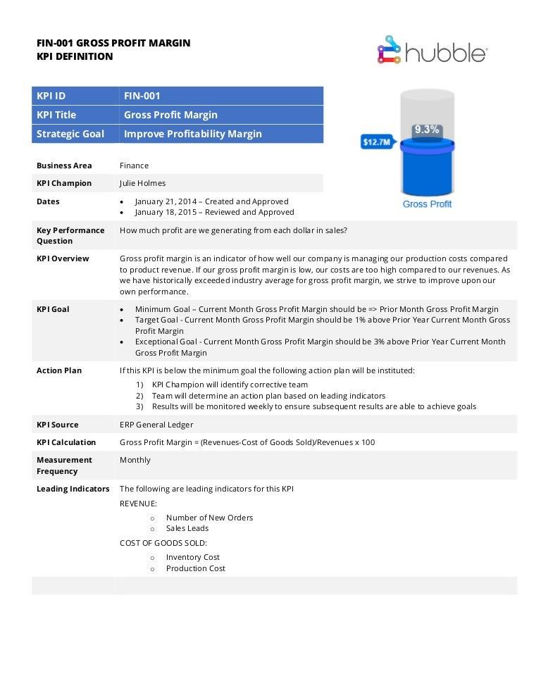 sample kpi documentation form