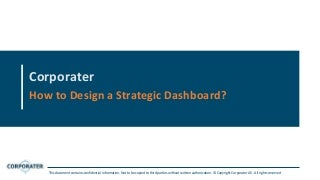How to Design a Strategic Dashboard?
