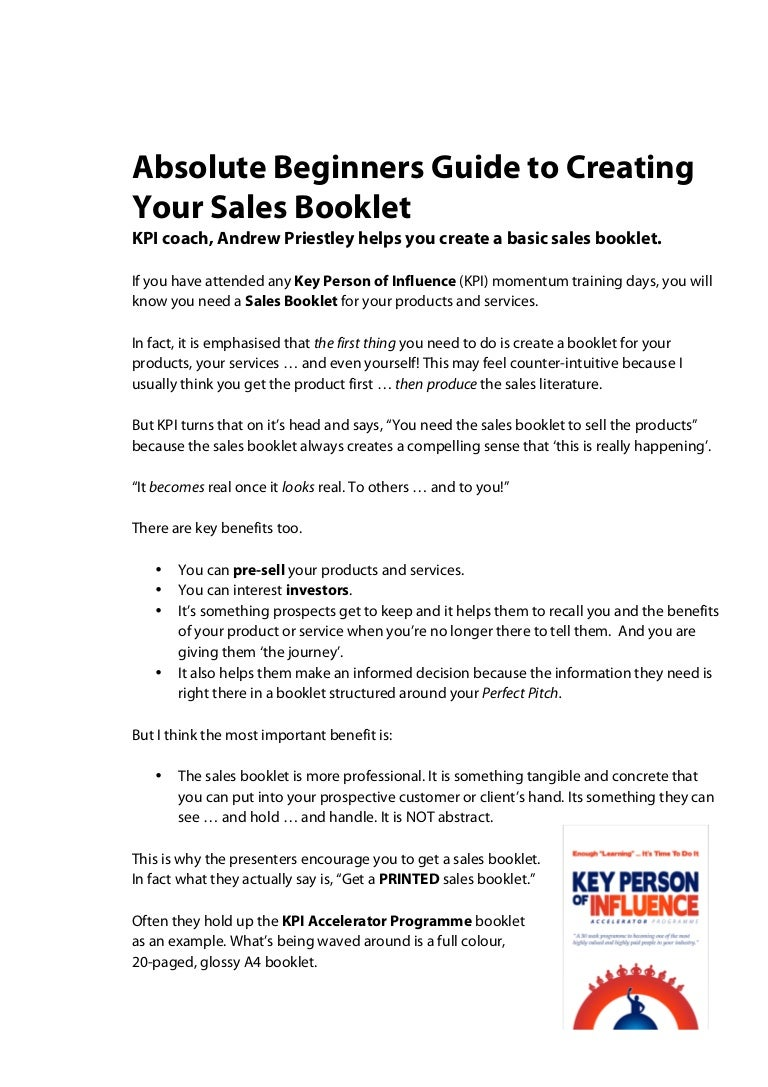 How to make booklets so that they can benefit