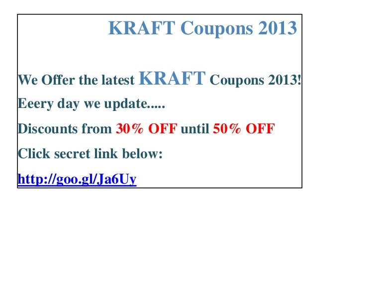picture relating to Kraft Coupons Printable titled Kraft coupon codes printable 2013