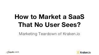 Kraken.io - Marketing of an Image Optimizer SaaS
