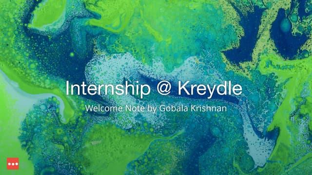 Internship Program Presentation at Kreydle